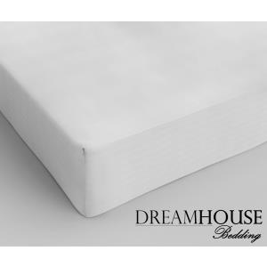 Dreamhouse Bedding Katoen Hoeslaken White