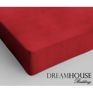 Dreamhouse Bedding Katoen Hoeslaken Red