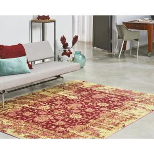 Vloerkleed Bohemian Red/Yellow