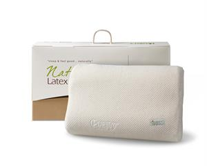 Natural Latex Linen Pillow Cream