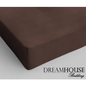 Dreamhouse Bedding Katoen Hoeslaken Brown